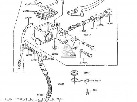 Kawasaki 1988 C6  Ar80 Front Master Cylinder