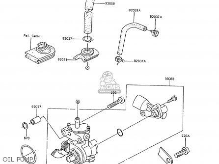 Kawasaki 1988 C6  Ar80 Oil Pump