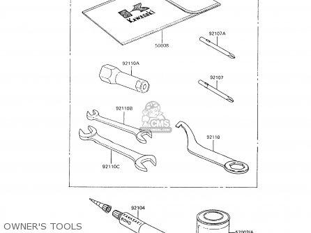 Kawasaki 1988 C6  Ar80 Owners Tools