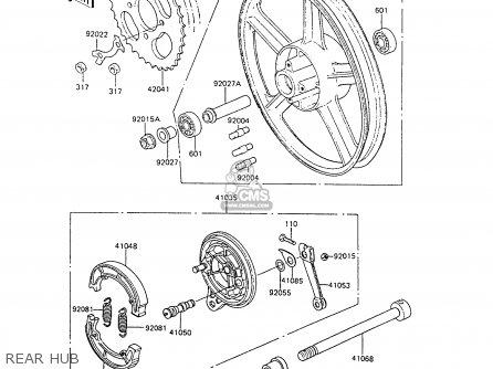 Kawasaki 1988 C6  Ar80 Rear Hub