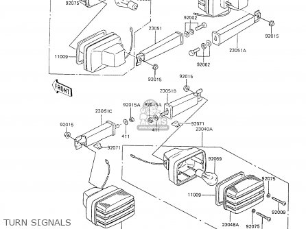 Kawasaki 1988 C6  Ar80 Turn Signals