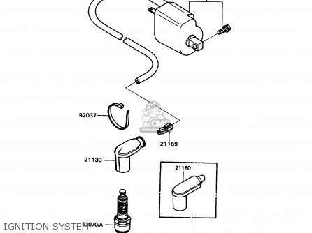 Kawasaki 1988 N1  Kd80 north America Ignition System