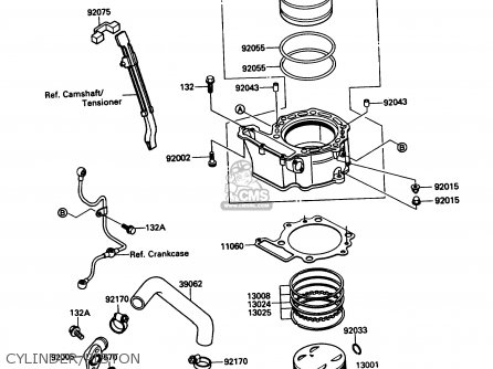 Kawasaki 1989 A3  Kl650 north America Cylinder piston