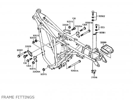 Kawasaki 1990 A8  Ar125 Frame Fittings