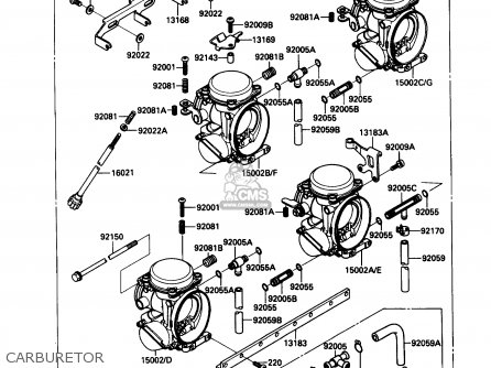 Kawasaki 1990 B3  Zx1000 north America Carburetor