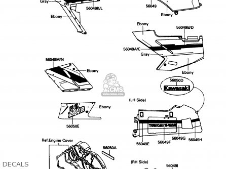 Kawasaki 1990 B3  Zx1000 north America Decals