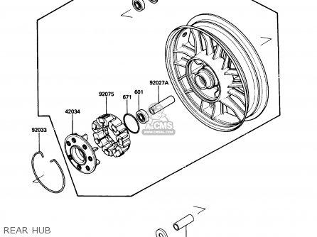 kawasaki 1990 b4  zg1200 parts list partsmanual partsfiche