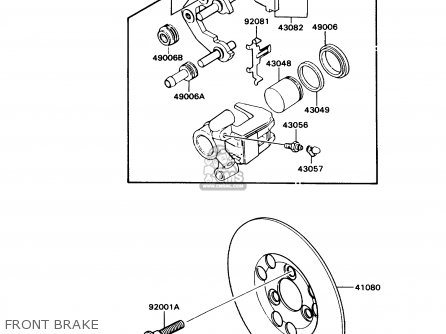 Kawasaki 1990 N3  Kd80 north America Front Brake