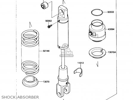 Kawasaki 1991 A5  Kl650 north America Shock Absorber