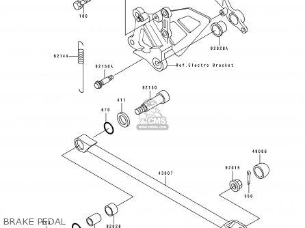 Kawasaki 1991 K1  Zx750 Brake Pedal