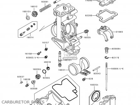 Kawasaki 1991 K1  Zx750 Carburetor Parts