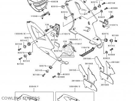 Kawasaki 1991 K1  Zx750 Cowling Lowers