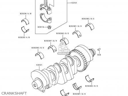 Kawasaki 1991 K1  Zx750 Crankshaft