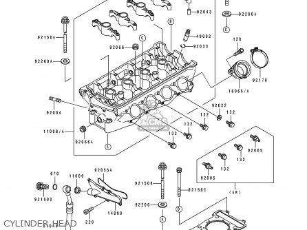 Kawasaki 1991 K1  Zx750 Cylinder Head