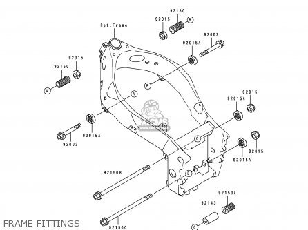 Kawasaki 1991 K1  Zx750 Frame Fittings