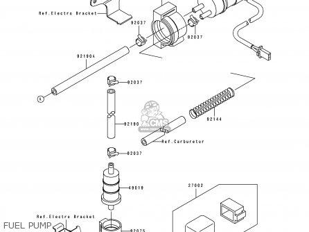 Kawasaki 1991 K1  Zx750 Fuel Pump