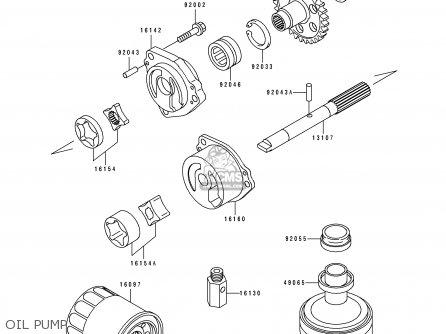 Kawasaki 1991 K1  Zx750 Oil Pump