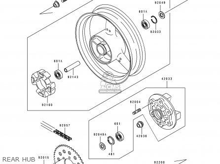 Kawasaki 1991 K1  Zx750 Rear Hub
