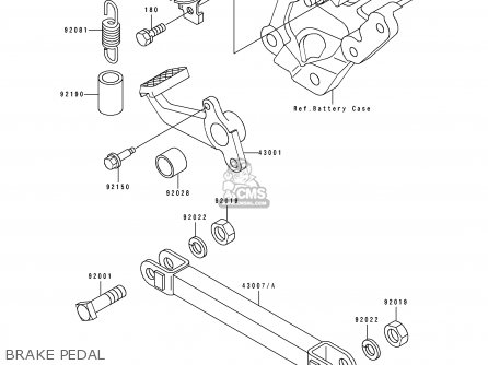 Kawasaki 1993 D4  Zx600 north America Brake Pedal
