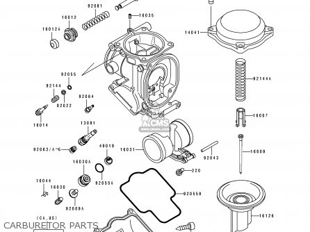 Kawasaki 1993 D4  Zx600 north America Carburetor Parts