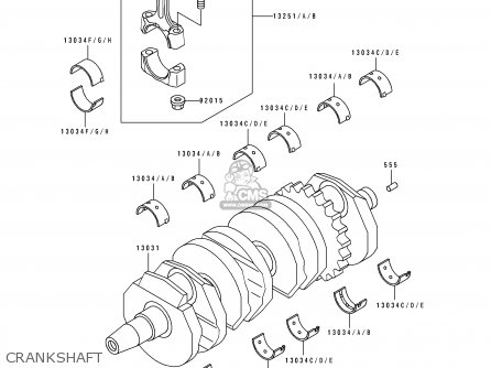 Kawasaki 1993 D4  Zx600 north America Crankshaft