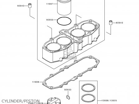 Kawasaki 1993 D4  Zx600 north America Cylinder piston