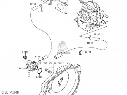 Kawasaki 1994 A9  Jf650 north America Oil Pump