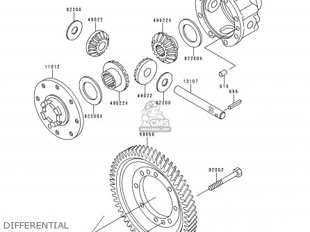 Kawasaki 1994 B2  Kaf620 north America Differential
