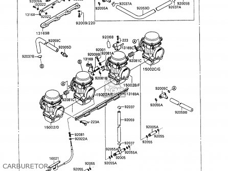 Kawasaki 1994 C7  Zx600 north America Carburetor