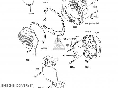 Kawasaki 1994 C7  Zx600 north America Engine Covers