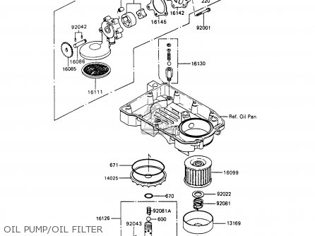 Kawasaki 1994 C7  Zx600 north America Oil Pump oil Filter