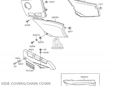 Kawasaki 1994 C7  Zx600 north America Side Covers chain Cover