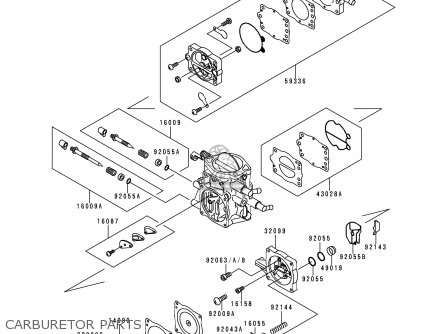 Kawasaki 1995 A1  Jh900 north America Carburetor Parts