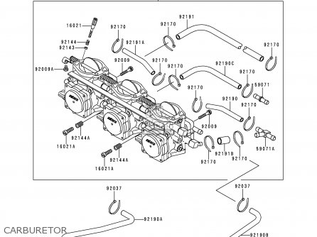 Kawasaki 1995 A1  Jh900 north America Carburetor