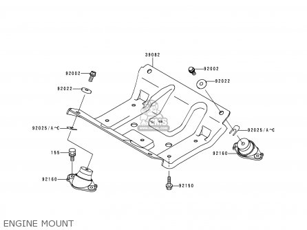 Kawasaki 1995 A1  Jh900 north America Engine Mount