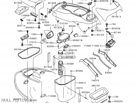 Kawasaki 1995 A1  Jh900 north America Hull Fittings