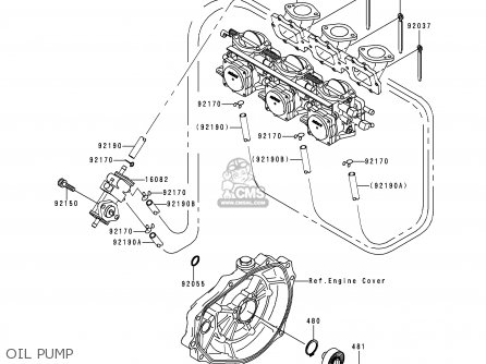 Kawasaki 1995 A1  Jh900 north America Oil Pump