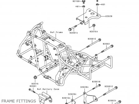 Kawasaki 1995 C7a  Klf300 Frame Fittings