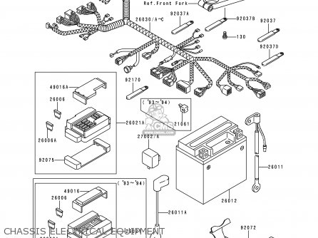 Kawasaki 1995 E3  Zx600 Chassis Electrical Equipment