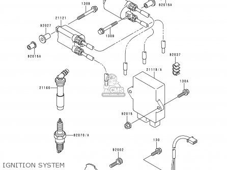 Kawasaki 1995 E3  Zx600 north America Ignition System