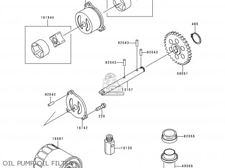 Kawasaki 1995 E3  Zx600 north America Oil Pump oil Filter
