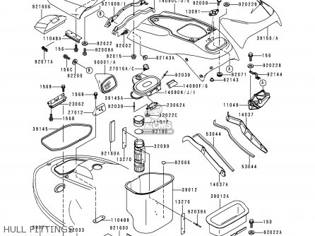Kawasaki 1996 A1  Jh1100 Hull Fittings