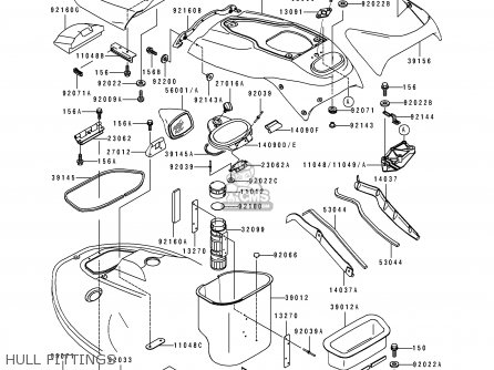 Kawasaki 1996 A2  Jh900 Hull Fittings