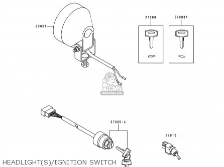 Kawasaki 1997 A3  Kaf620 Headlights ignition Switch