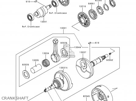 Kawasaki 1997 C9  Klf300 north America Crankshaft