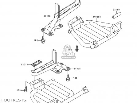 Kawasaki 1997 C9  Klf300 north America Footrests