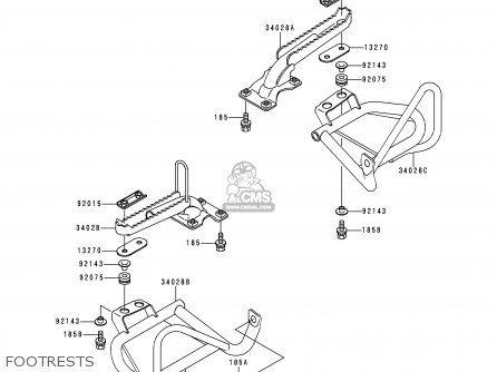 Kawasaki 1998 B6  Klf400 north America Footrests
