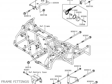 Kawasaki 1998 C10  Klf300 Frame Fittings