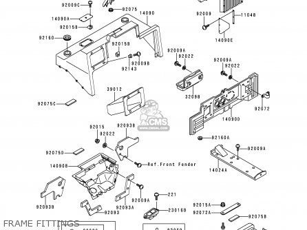 Kawasaki 1998 C4  Kaf620 north America Frame Fittings
