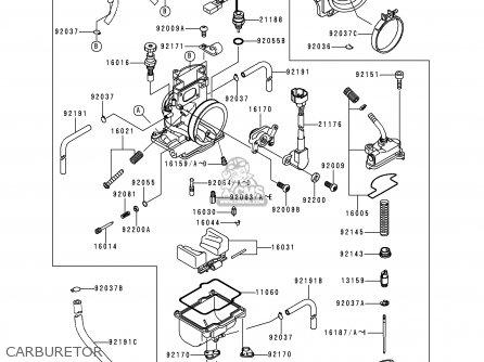 Kawasaki 1999 L1  Kx250 Carburetor